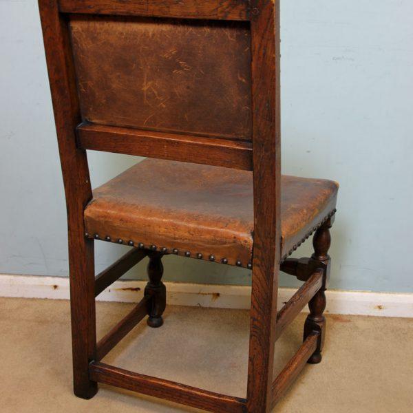 Antique Set 8 Oak Dining Chairs,