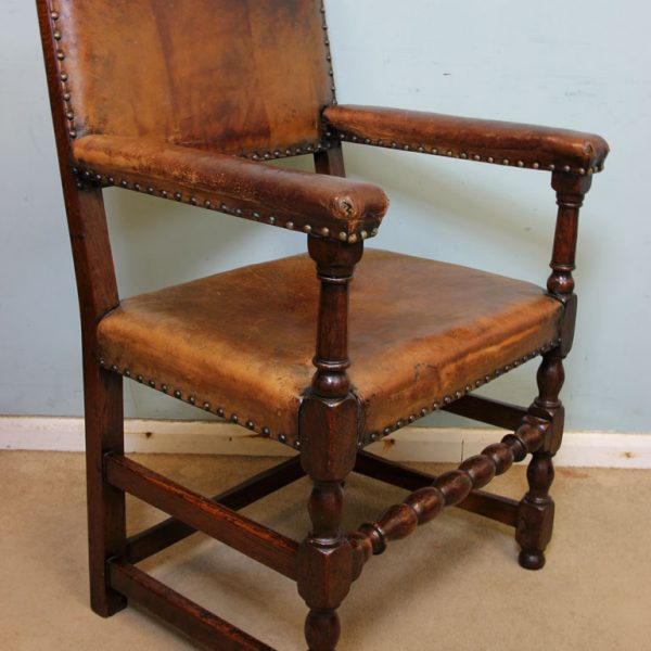 Padded Back Antique Set 8 Dining Chairs,