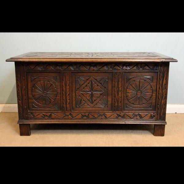 Antique Oak Coffer,