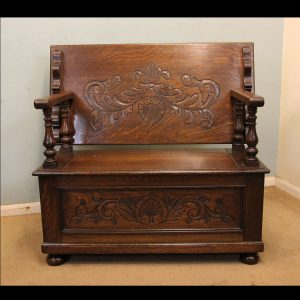 Antique Monks Bench.