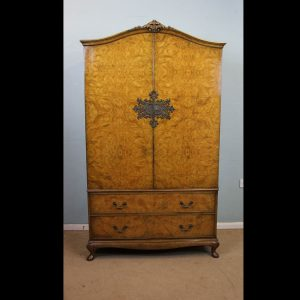 Antique Burr Walnut Wardrobe.