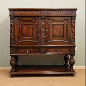 Antique Oak Sideboard Cupboard