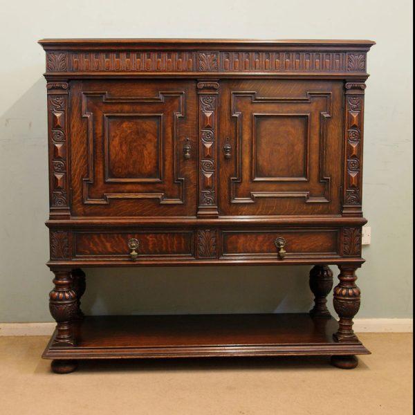 Antique Oak Sideboard Cupboard