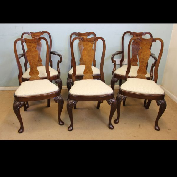 Antique Set Six Dining Chairs.