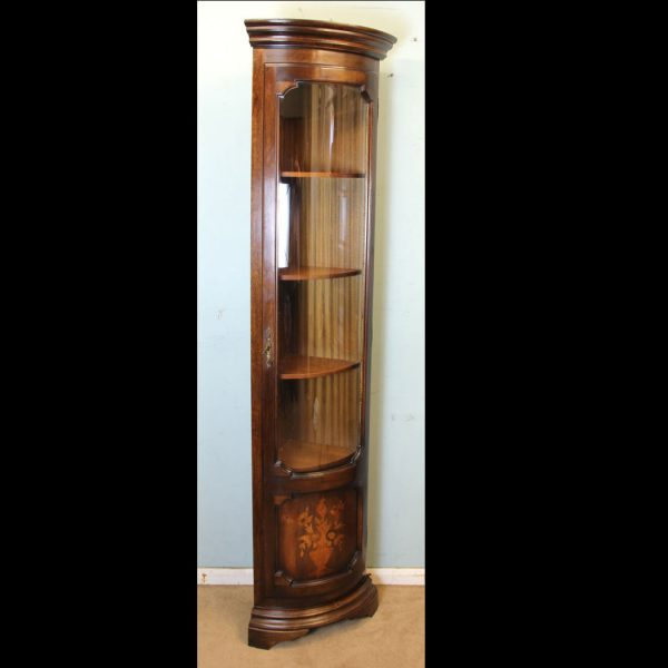 Bow Front Corner Cabinet,