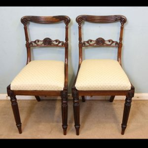 Pair Regency Antique Side Chairs,