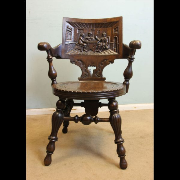 Victorian Carved Oak Chair,