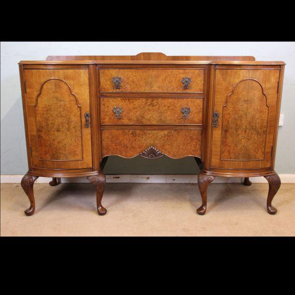 Antique Burr Walnut Sideboard Server