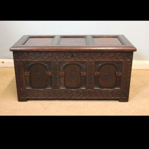 Antique Walnut Small Chest Coffer.