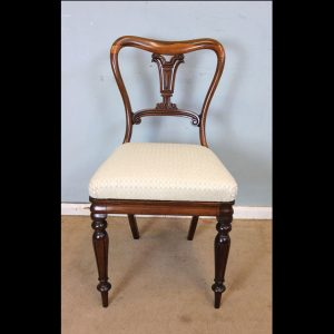 Antique 19th Century Rosewood Desk / Dressing Table Side Chair