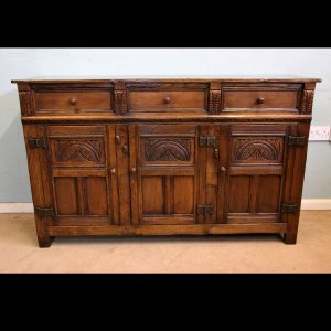 Antique Oak Sideboard Dresser Base