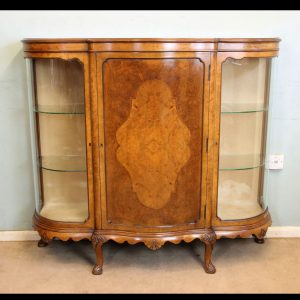 Antique Burr Walnut Credenza Sideboard