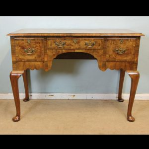 Antique Quality Burr Walnut Side Table.