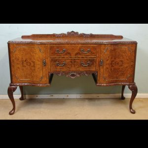 Queen Anne Style Burr Walnut Sideboard