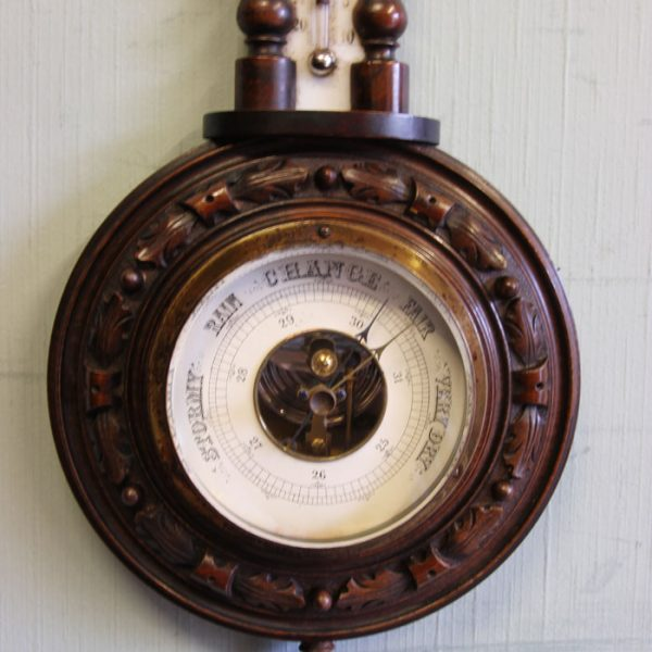 Antique Small Carved Barometer.
