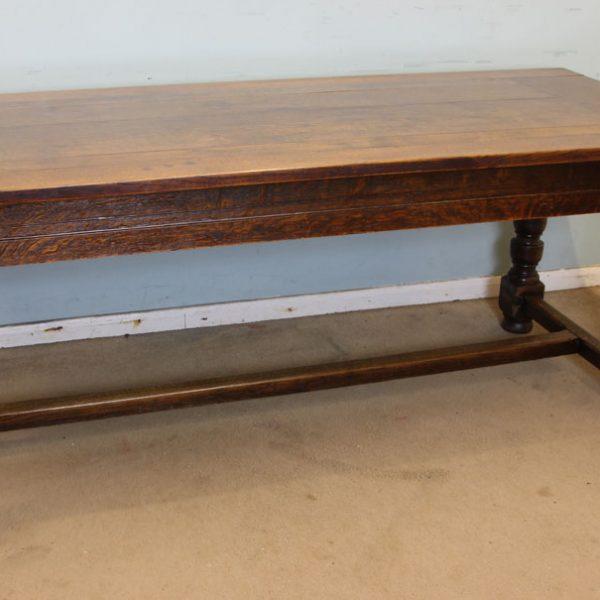 Antique Oak Refectory Table.