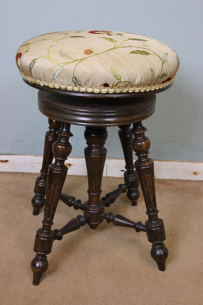 Antique Bed Stool: Antique Victorian, Georgian & Edwardian Furniture