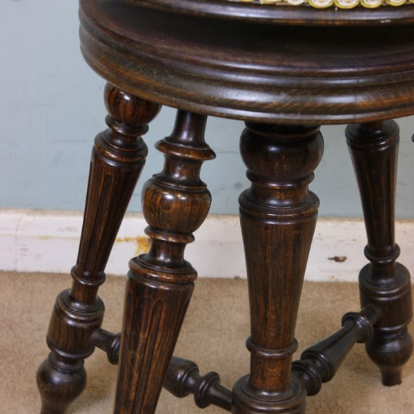 Antique Adjustable Piano / Dressing Table Stool.