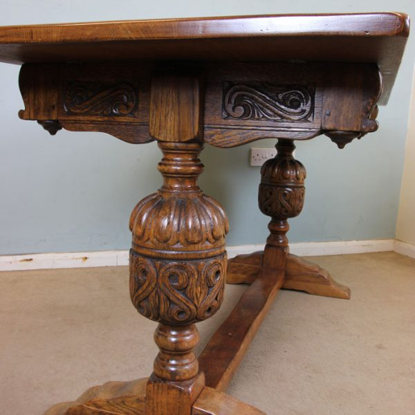 Antique Oak Refectory Dining Table.