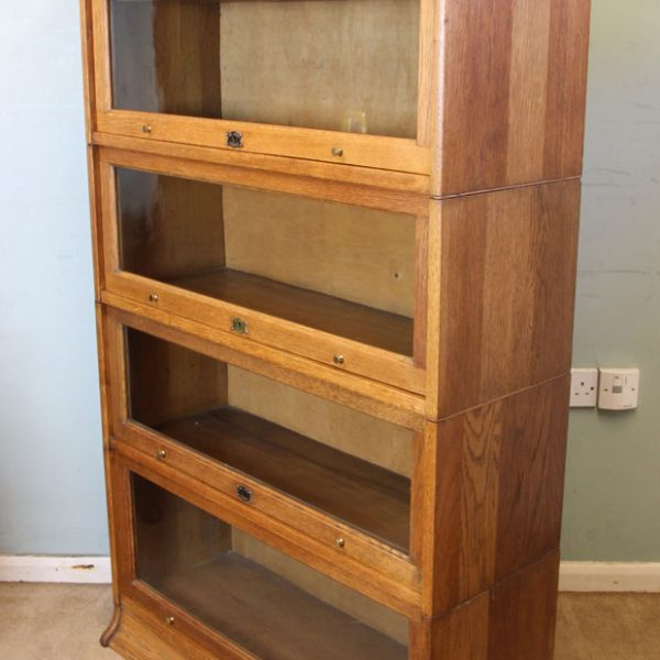 Antique Oak Lebus Stacking Sectional Bookcase