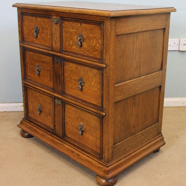 Antique Oak Small Chest of Drawers