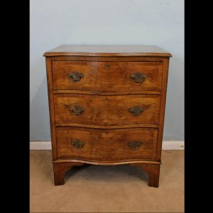 Antique Figured Walnut Small Chest of Drawers