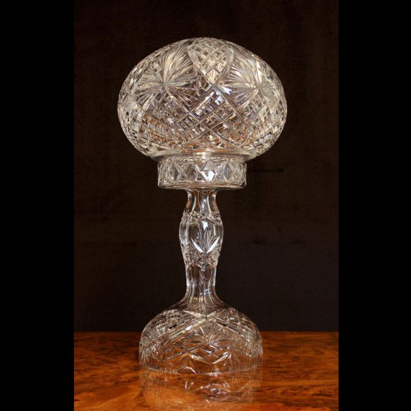 Antique Cut Crystal Table Lamp