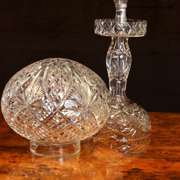 Antique Cut Crystal Table Lamp,
