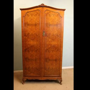 Quality Burr Walnut Double Wardrobe