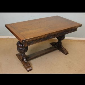 Antique Refectory Oak Draw Leaf Farmhouse Dining Table