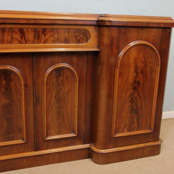 Antique Victorian Mahogany Breakfront Sideboard Dresser Base.