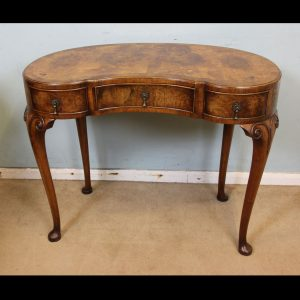 Antique Shaped Burr Walnut Side Table