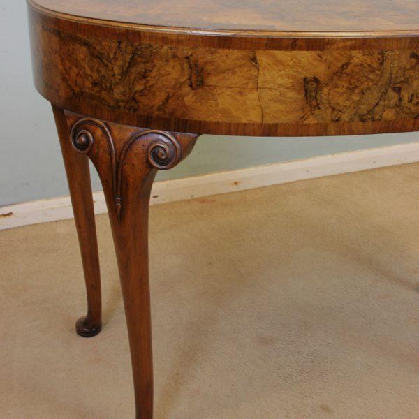 Antique Shaped Burr Walnut Side Table