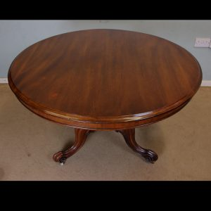 Antique Mahogany Pedestal Dining Table