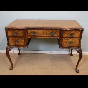 Burr Walnut Writing Side Table / Dressing Table,